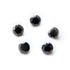 Kuutiollinen Zirkonia, Musta, pyöreä 4mm, 5 kpl, huom ei kestä polttoa