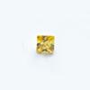 *Mallikappale-poistoale* Kuutiollinen zirkonia, kuvassa #713, keltainen, neliö, 5x5mm, 1 kpl