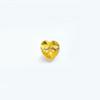 *Mallikappale-poistoale* Kuutiollinen zirkonia, kuvassa #709, keltainen, sydän, 5x5mm, 1 kpl