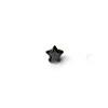 *Mallikappale-poistoale* Kuutiollinen Zirkonia, kuvassa #991, Musta, TÄHTI, 4mm, 1 kpl, huom ei kestä polttoa