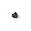 *Mallikappale-poistoale* Kuutiollinen Zirkonia, kuvassa #993, Musta, SYDÄN, 5mm, 1 kpl, huom ei kestä polttoa