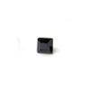 *Mallikappale-poistoale* Kuutiollinen Zirkonia, kuvassa #995, Musta, NELIÖ, 5x5mm, 1 kpl, huom ei kestä polttoa