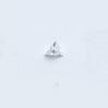 *Mallikappale-poistoale* Kuutiollinen zirkonia, kuvassa #241, kirkas, KOLMIO, 5x5mm, 1 kpl