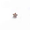 *Mallikappale-poistoale* Kuutiollinen Zirkonia, kuvassa #156, Ruskea (muistuttaa savukvartsia), TÄHTI, 4mm, 1 kpl, huom polttoa ei testattu