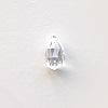 *Erä* Synteettinen zirkonia, valkoinen (kirkas), pisara 9.2x5mm, 1 kpl, *Harvinainen malli, upea viistehionta & kestää polton*