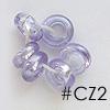 """*Mallikappale-Poistoale* Kuutiollinen Zirkonia, kuvassa #CZ2, Laventeli, """"donitsi"""" -muoto noin 6x3mm, 1 kpl OVH 3.90"""