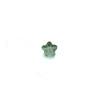 *Mallikappale-poistoale* Kuutiollinen zirkonia, kuvassa #725, vihreä, kukka, 4x4mm, 1 kpl, Huom: Ei kestä polttoa
