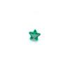 *Mallikappale-poistoale* Kuutiollinen zirkonia, kuvassa #728, vihreä, tähti, 4x4mm, 1 kpl, Huom: Ei kestä polttoa